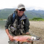 colored silver salmon